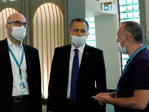 Governor Yerlikaya carried out Inspections at Istanbul Airport