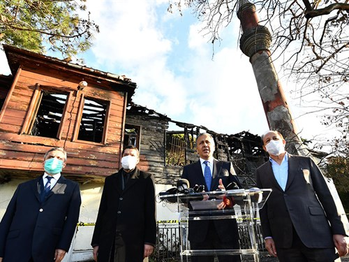 "Governor Yerlikaya: ""Historical Vaniköy Mosque will be restored in accordance with its original"""