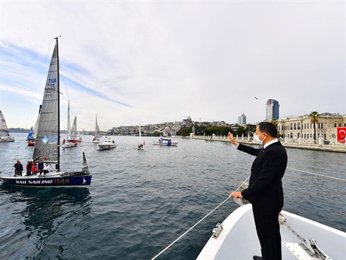Governor Yerlikaya Started the Presidential International Yacht Races